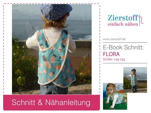 """Kittelkleid / Schürzenkleid mit Pattarina Zuschnitt """"FLORA"""""""