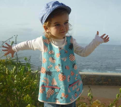 Schnittmuster Kittelkleid Flora Zierstoff Kinderkleid Baumwolle