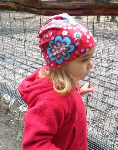 Beanie Blumen Mütze