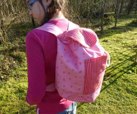 """Einfachen Rucksack nähen – das Modell """"CARLOTTA"""""""