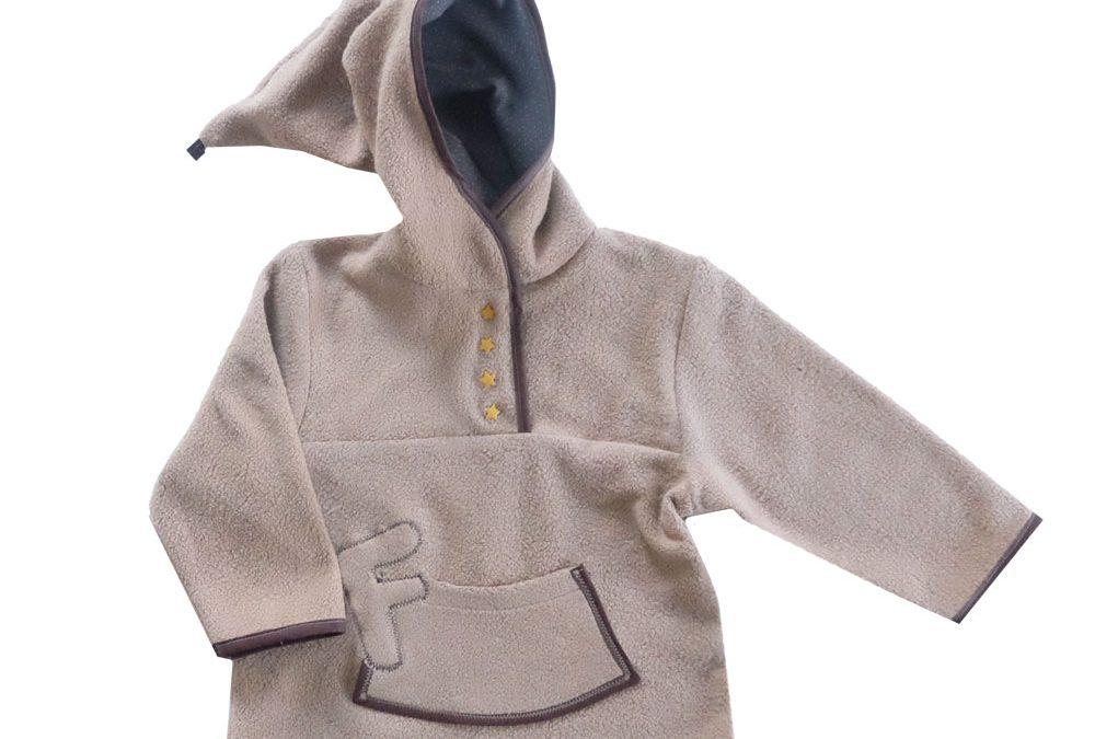 Kuscheliger Sweatshirtstoff in Teddystoff Optik