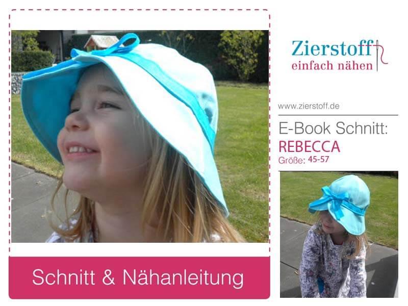 """Sommerhut für Mädchen """"REBECCA"""", Gr. 45-57"""