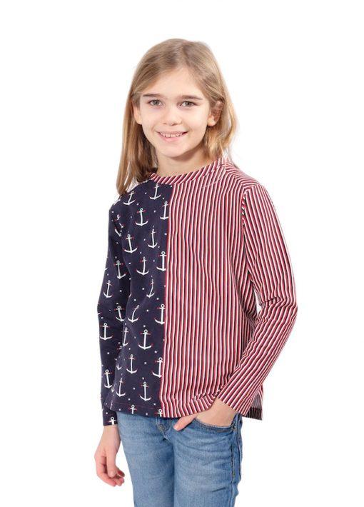 Schnittmuster Shirt Fiete Anker jersey