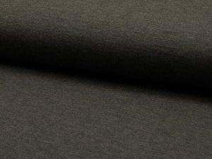 French Terry, unifarben Anthrazit, Sweatshirtstoff, Restposten zum Sonderpreis 0,88 Meter
