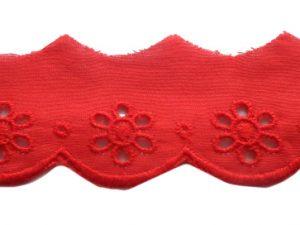 Baumwollspitze Rot zum Nähen