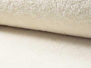 Teddystoff, Natur, Baumwolle – Restposten zum Sonderpreis 1,12 Meter – 4 Stücke