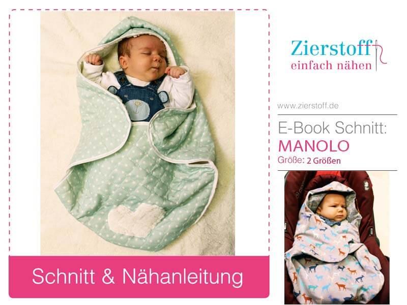 """Schnittmuster Decke für Babyschale mit Pattarina Zuschnitt """"MANOLO"""""""