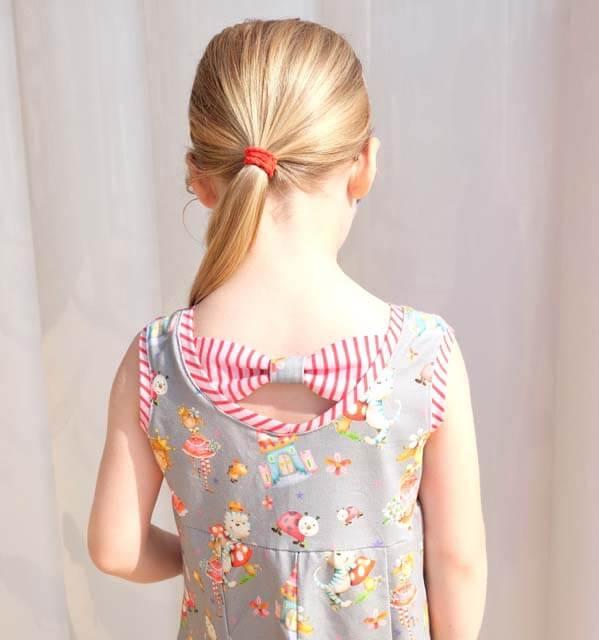 Jerseykleid mit Schleife nähen…
