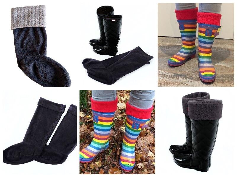 Socken selber nähen – Innenschuhe für Regenstiefel