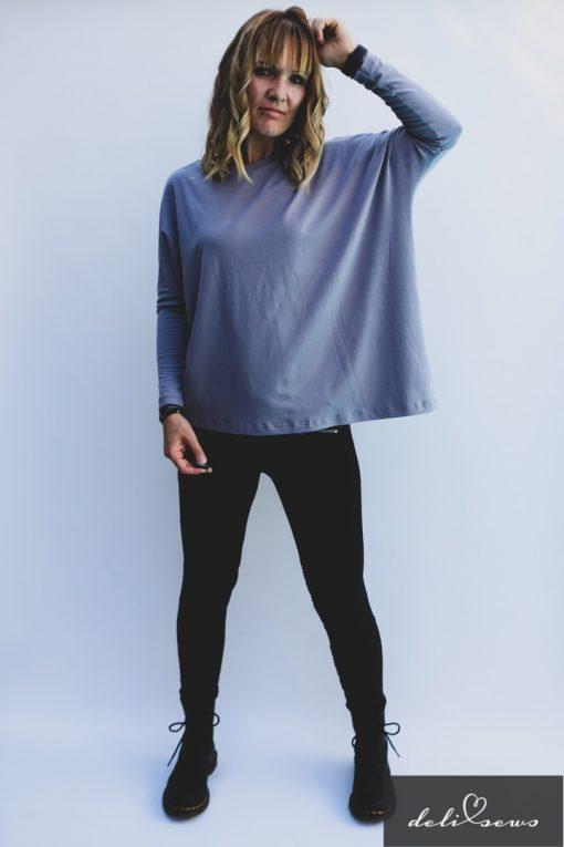 Schnittmuster Shirt Elena Bambus Jersey einfach nähen04