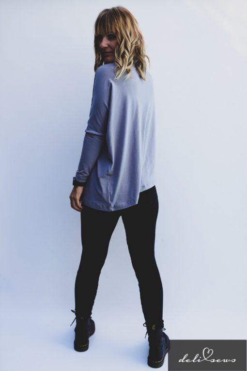Schnittmuster Shirt Elena Bambus Jersey einfach nähen07