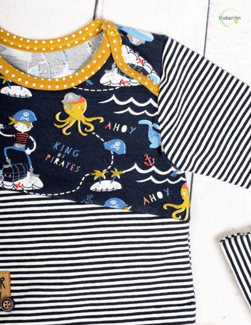 Schnittmuster Shirt Rajan Babyhose Lou Piratenestoff - 6