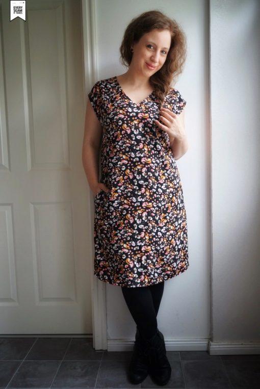 Schnittmuster Amber Kleid Viskosekleid nähen Zierstoff2