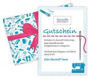 Zierstoff Gutschein verschenken