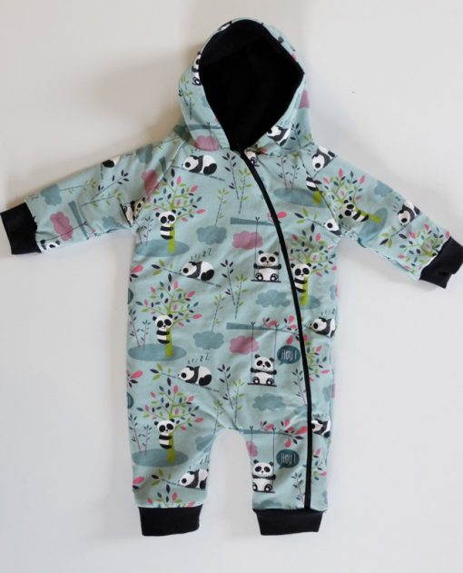 Baby Anzug Freddy Pandabären Schnittmuster 1