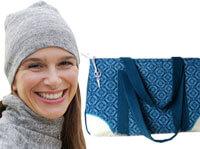 Taschen, Schals und Mützen