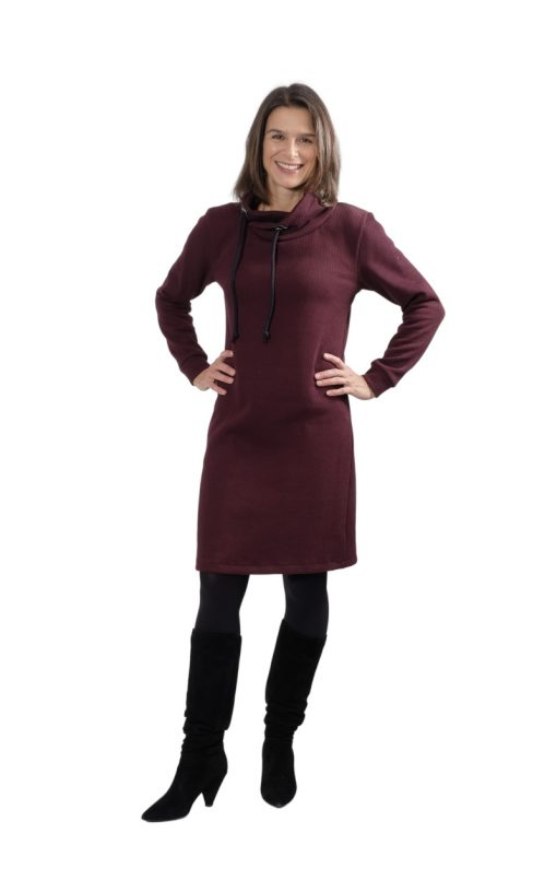 Schnittmuster Thyra Schalkragen Kleid