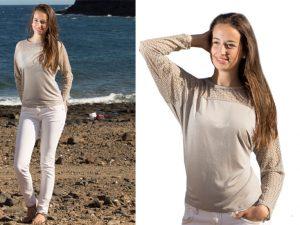 3042-Klea Shirt Fledermausärmel