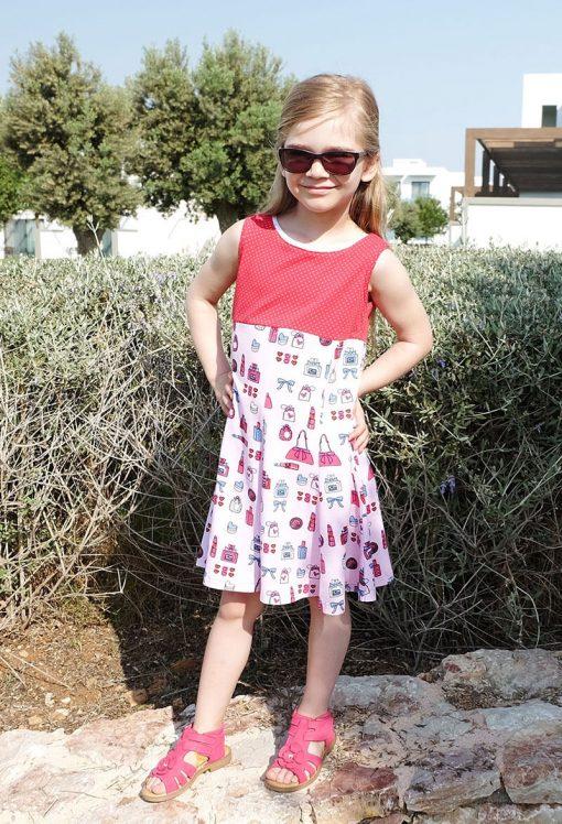 Zierstoff_Produkt Kleid Jerseykleid Schleife