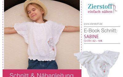 Carmenbluse mit Raglanärmel, Schnittmuster Bluse Sabine