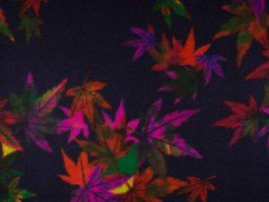Mantelflausch, Flanell, bunte Blumen auf Marine – Restposten zum Sonderpreis 0,45 Meter