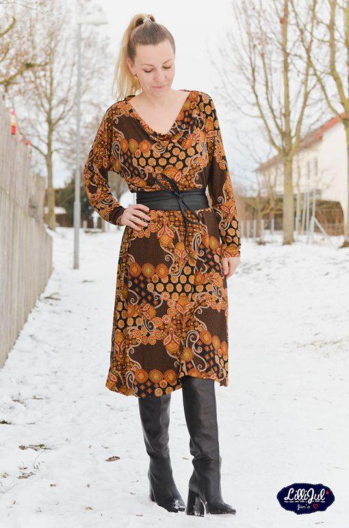 Shirt Hilda Schnittmuster Rock Lona Viskosejerey - 24
