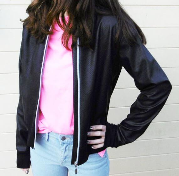Collegejacke Jacke Bennie für Erwachsene – hier als Lederjacke verarbeitet