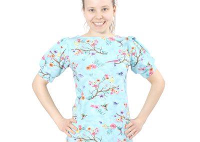 Schnittmuster Bernice Kurzarm Shirt Puffärmel