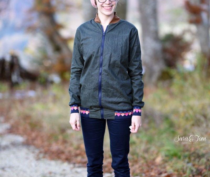 Neuer Trendstoff für Jacken und Taschen aus Oil Skin