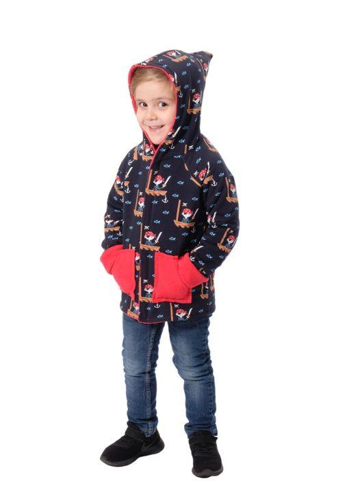 Schnittmuster-Kinderjacke-Senna-Zierstoff-Zwergenkapuze-Jacke