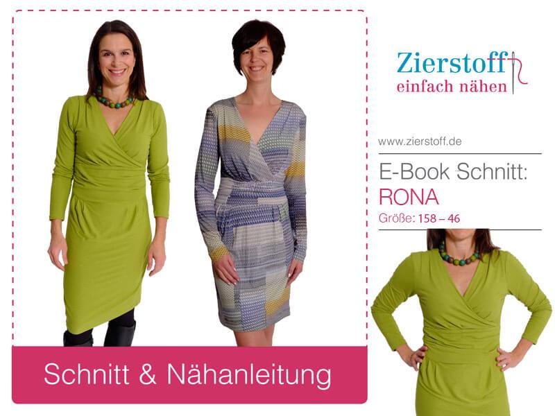 """Jerseykleid für Damen, Schnittmuster """"Rona"""""""