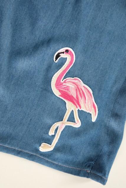 Neuen Flamingo Patch – Applikation aufnähen