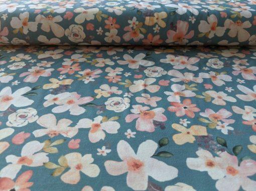 Jerseystoff Blumen1