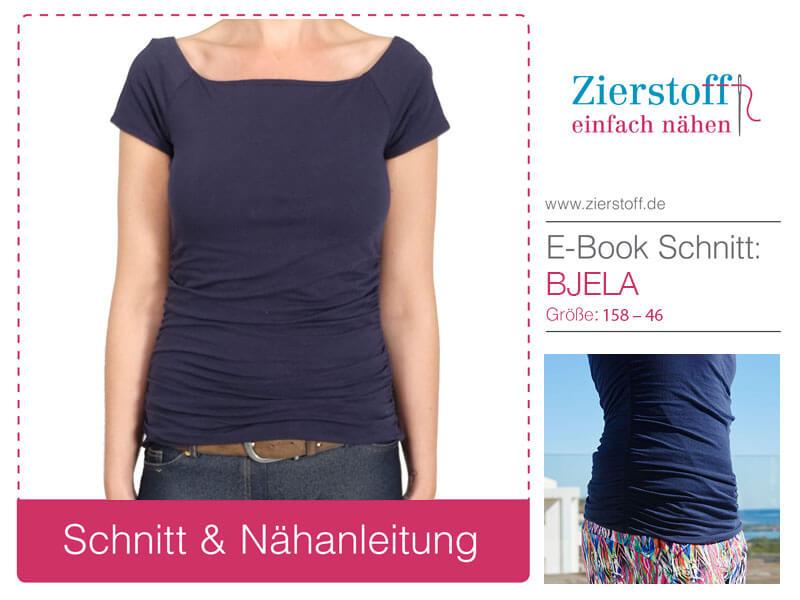 """Neues Damenshirt """"Bjela"""" aus Jersey oder Viskosejersey"""
