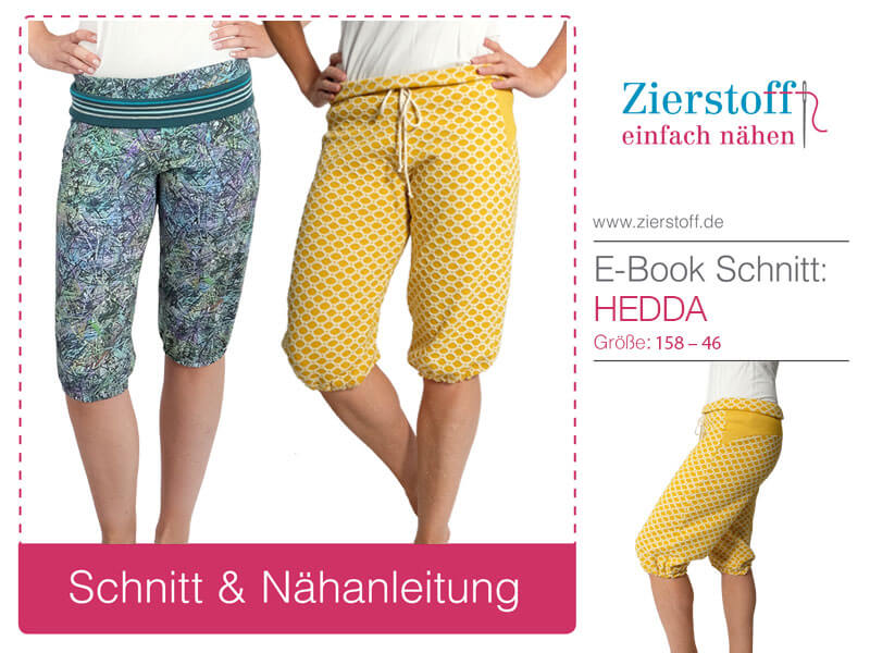 """Schnittmuster kurze Sommerhose """"Hedda"""" für Damen von Gr. 158-46"""