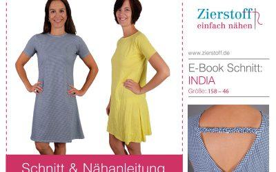 """Damenkleid """"India"""" – mit Rundhals- oder V-Ausschnitt"""