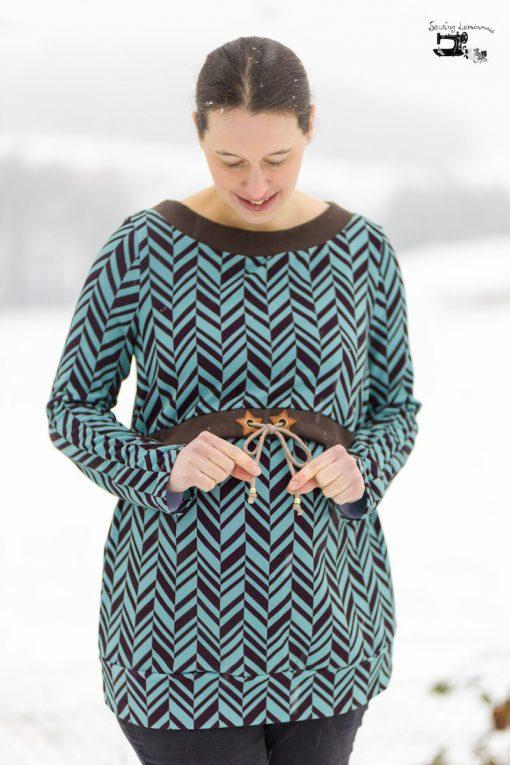 Schnittmuster Noelia Schwangerschaft Stillpullover web