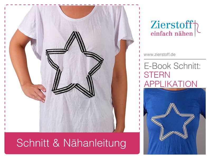 Neues Kleid mit Stern Applikation – den Stern gibt es auch als Freebok