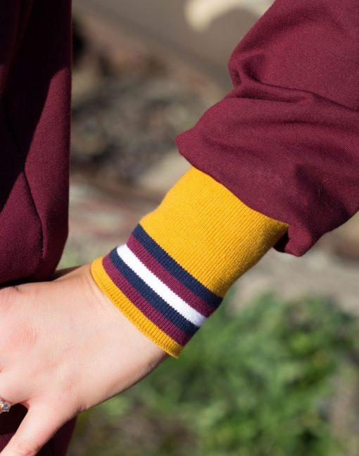 Collegebündchen-Sweatshirt-Zierstoff1