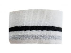Collegebündchen-Weiß-Silber