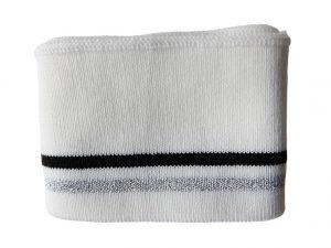 Strickbündchen-weiß-Silber