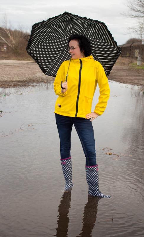 Regenjacke Johanna Zierstoff Damenjacke nähen2