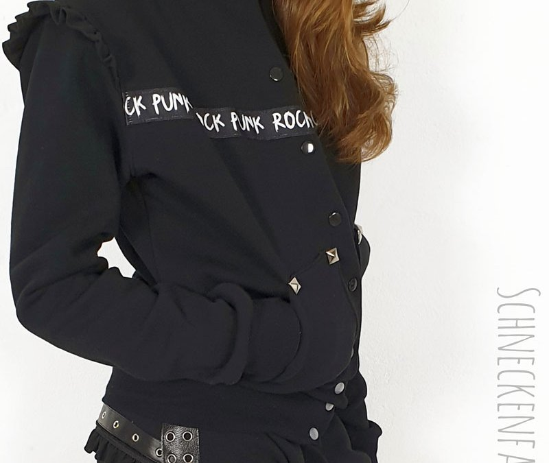 "Schnittmuster Collegejacke ""Heaven"" im Rock Chic Style"