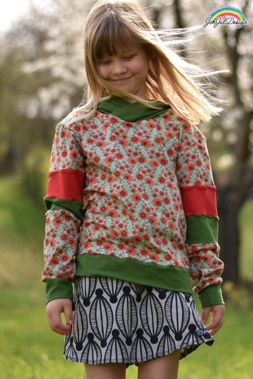 Jean-Sweatshirt-Zierstoff-Colour-Blocking