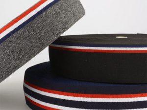 Elastic-Band, Gummiband gestreift, 35 – 40 mm breit – 3 Meter