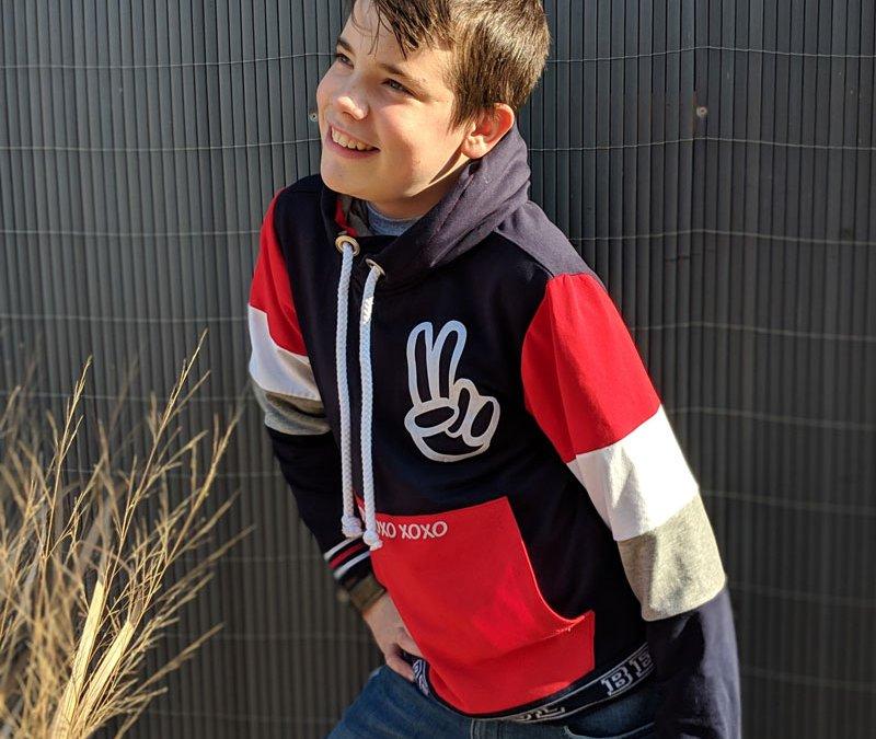 "Schnittmuster Kapuzensweat ""Jean"" – Colour Blocking Sweatshirt"