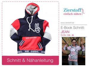 Schnittmuster-Jean-Sweatshirt-Colour-Blocking-Hoodie-Zierstoff