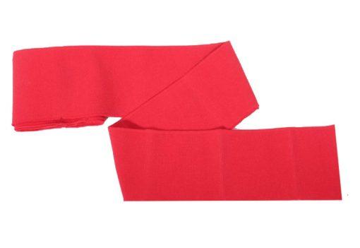 Collegebündchen-unifarben-rot
