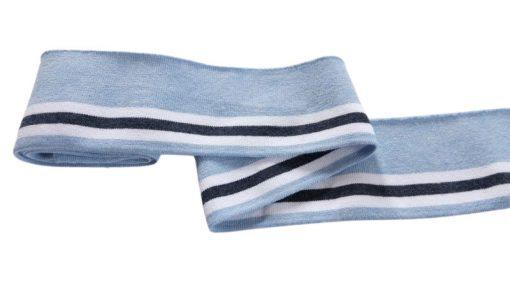 Collegebündchen-Blau-grau-weiß-Streifen
