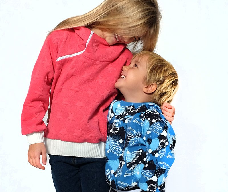 "Schnittmuster und Nähtutorial Kindersweatshirt ""Kinga"""